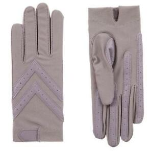 Ladies UNLined Isotoner Spandex Shortie Smartdri Gloves Lavender S/M or L/XL