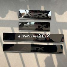 Chrome Door Sill Scuff Plate Guard Protector For Mitsubishi ASX 2013 2014 2015