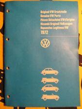 VW Ersatzteilkatalog Bildkatalog VW 1302 VW 1303 Ausgabe 1972, 140 S., neuwertig