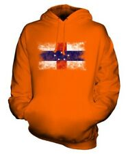 NETHERLANDS ANTILLES DISTRESSED FLAG UNISEX HOODIE TOP FOOTBALL JERSEY