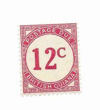 British Guiana #J4a MH - Stamp CAT VALUE $35.00
