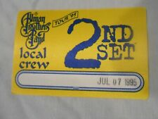Allman Brothers Band Tour 1995 silk backstage pass free shipping