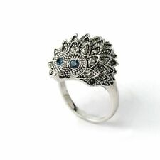 Vintage Animal Design Chic Hedgehog Rings Jewelry Wedding Party Silver Plated