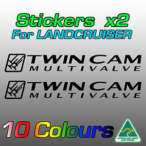 Stickers decals for Land Cruiser 100 series Twin Cam Multivalve