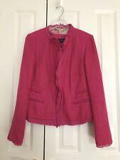 Escada Crimson Cotton Jacket EU Size 40, To Fit UK 12