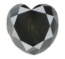 Natural Loose Diamonds Cut Heart Shape Grey Milky Color I2 6.00 MM 1.21 Ct N5568