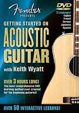 Fender Presents Getting Started on Acoustic Guitar w/ Keith Wyatt DVD NEW Sealed
