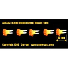 Armorcast ACFX031 Small Double Barrel Muzzle Flash 5 pcs Cinematic Effects Bits