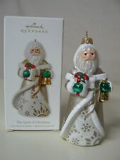 Hallmark Ornament 2010 THE SPIRIT OF CHRISTMAS NEW Santa Present Bell Holiday