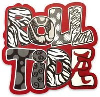 "Alabama Crimson Tide ""Roll Tide""  Type Magnet"