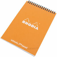 Rhodia Orange A5 dotPad Geometric Dot Matrix Grid Note Book Pad Graphic Design