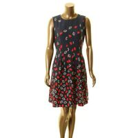 ANNE KLEIN Women's Printed Seamed Fit & Flare Dress TEDO