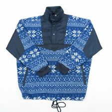 VGC Vintage Hi-Point Quarter-Zip Aztec Crazy Pattern Fleece Sweatshirt | Mens L