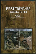 Bequia Grenadines St Vincent 2014 MNH WWI WW1 100th First Trenches 4v M/S Stamps