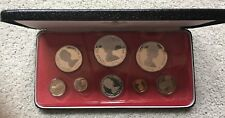 1974 CAYMAN ISLANDS - OFFICIAL PROOF COIN SET (8) w/ 4 SILVER COINS - 3 Oz