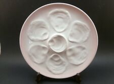 VINTAGE OYSTER PLATE PINK NIDERVILLER FRANCE FAIENCE / MAJOLICA  6 WELLS EX COND