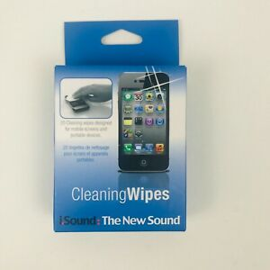 20 Cleaning Wipes for Mobile Screens and Portable Devices by DreamGear- New