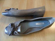 MARC JACOBS chice Ballerinas mit Schleife grau Gr. 39 1/2 TOP SNC516