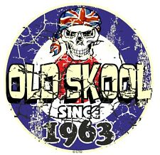 Distressed Aged OLD SKOOL Since 1963 Mod Style Target Motorcycle car sticker
