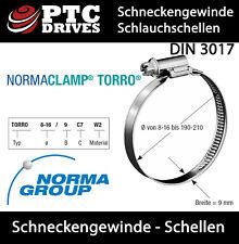 12 - 22 mm / 9 mm breit NORMA SCHLAUCHSCHELLEN ROHRSCHELLEN SCHNECKENGEWINDE W2