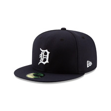 New Era 59FIFTY MLB Detroit Tigers Navy Official Team Logo Baseball Fitted Cap