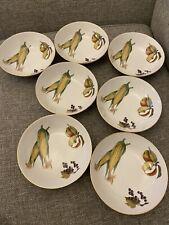 Royal Worcester Evesham Gold Set Of 7 Cereal Bowls