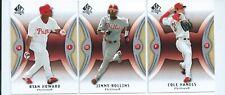 PHILADELPHIA PHILLIES x 3 2007 SP Authentic MLB Baseball Trading Cards