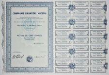 Action - Compagnie Financière MOCUPIA, action de 100 Frs N° 002048