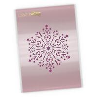 Snowflake Mandala Stencil - Christmas Craft / Airbrush / Cake Template