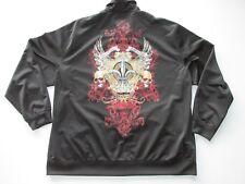 MMA Elite Black Polyester Zip Front Jacket  Men's 2XL T5