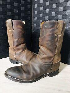 Justin Brown Cowhide Men Roper Boots
