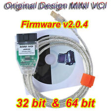 Original Mini VCI Diagnostic OBD Cable for Toyota Lexus TIS Techstream fw V2.0.4