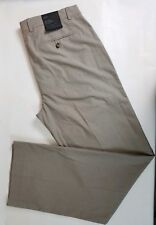 New Banana Republic Men's Modern Relaxed Fit 35x34 Flat Front Brown Cotton Pants