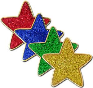 Glitter Enamel Star Badge