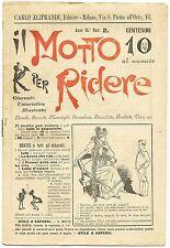 SATIRA-UMORISMO_Il Motto per Ridere_Ed. Aliprandi_Anno III  N.2, 1891*_FORNARI
