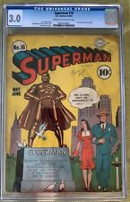 Superman #16 (1942) CGC 3.0 -- First Lois Lane cover in title; Jerry Siegel
