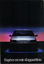 Renault 25 1984 Original French Market Foldout Sales Brochure