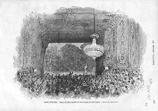 Paris Théâtre de l'Ecole Spéciale de Chant Dirigée Par Léon Duprez GRAVURE 1875
