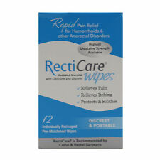 RectiCare Anorectal Wipes 12ct (PACK OF 3)- Exp Date 03/2019