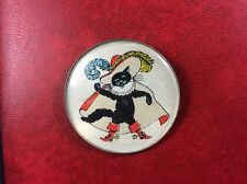 "USSR PIN VINTAGE. Old Russian Badge. ""Puss'n Boots"". Le Chat Botté. Metal. Rare!"