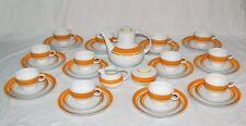 Arzberg Inglaze orange - 70er Jahre Porzellan Kaffeeservice 12 Personen