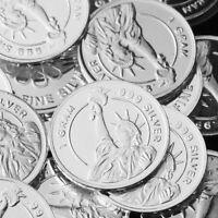"""""""Statue of Liberty"""" Design. Lot of 10, 1 gram .999 Fine silver bullion Coin NEW"""
