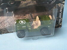 Matchbox 1943 Jeep Willys 4x4 Green Army Toy Model Car 60mm in USA BP