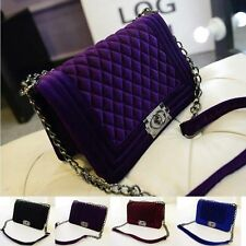 womens Argyle Quilted Chain  Handbags Shoulder Clutch Evening purse phone Bags
