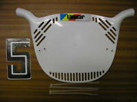 LANDAR OLD SCHOOL BMX NUMBER PLATE GENUINE NEW OLD STOCK MADE IN 80's WHITE