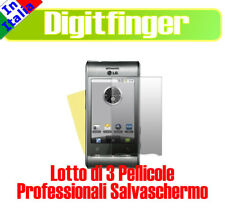3 PEZZI PELLICOLA PROFESSIONALE PER LG GT540 OPTIMUS