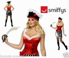 Smiffys Fever Pirate Women Girls Glittery Party Fancy Dress Custome Sexy Sale
