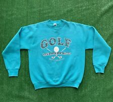 Vintage 90s Myrtle Beach Golf Capital Crewneck Spellout Sweatshirt Sz Large VTG