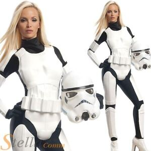 Ladies Stormtrooper Costume Star Wars Fancy Dress Womens Adult Outfit