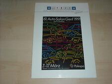 56543) Cadillac Seville Genf Pressemappe 03/1991